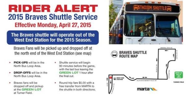 Braves Shuttle West End MARTA Station