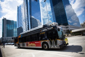 MARTA bus at the Buckhead MARTA Station