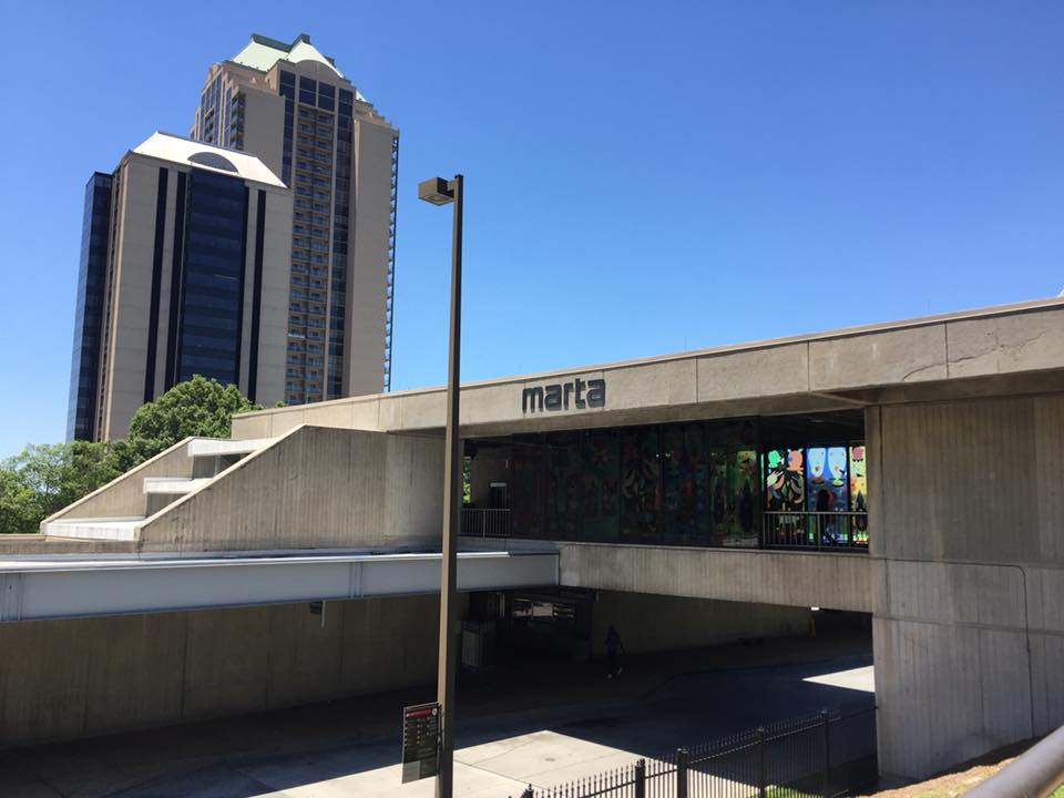Arts Center MARTA station exterior