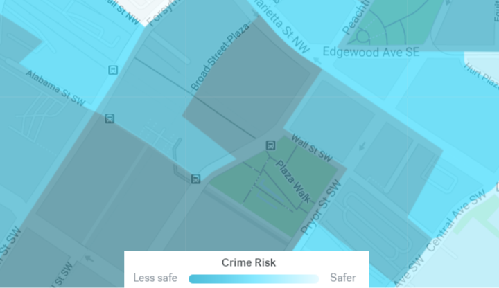 Five Points MARTA Station Crime Map