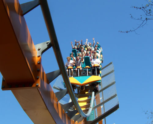 Six Flags Goliath Ride
