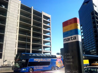 Atlanta Megabus at the Civic Center Station
