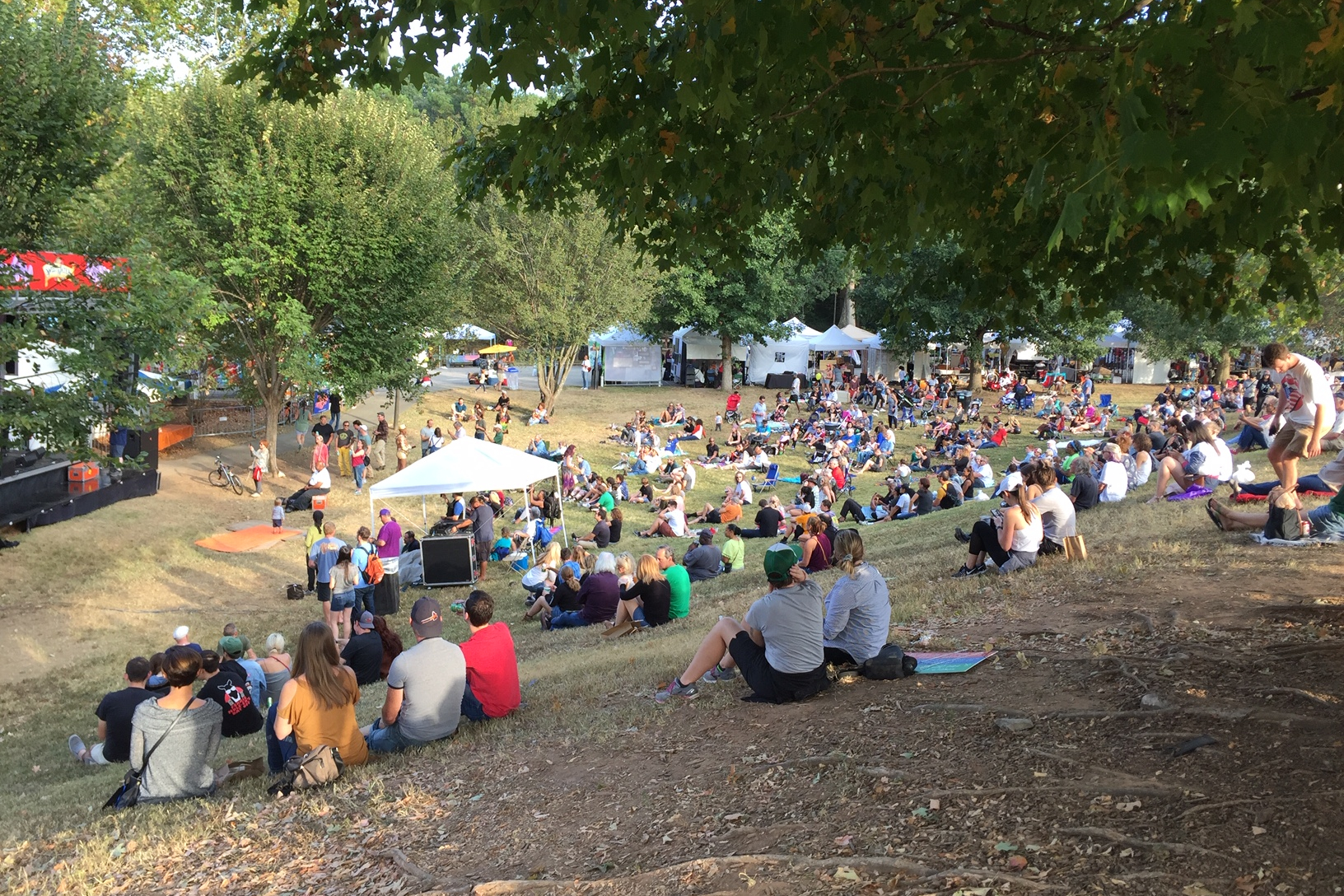 Candler Park Fall Fest music stage
