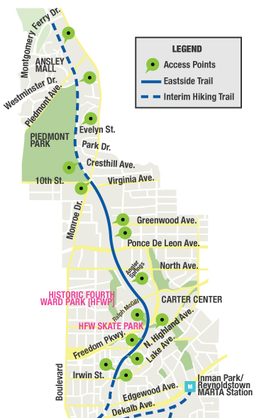 BeltLine Eastside Trail Map