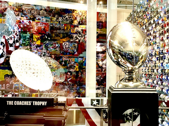 College Football Hall of Fame coaches trophies