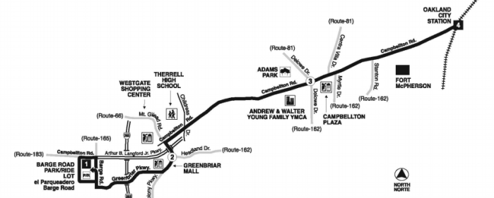 MARTA bus 83 route map