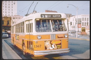 Route 3 Trolley Bus Atlanta 1961