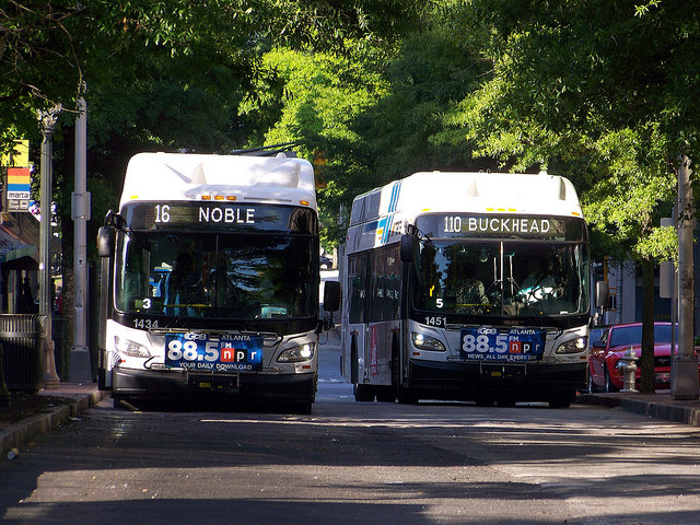 MARTA bus 16 and 110
