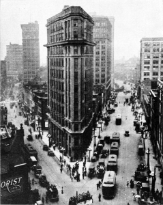 Atlanta's Flatiron Building in 1921