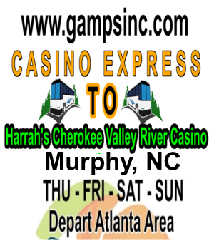 Gamps Inc Casino express bus to Harrah's River Casino